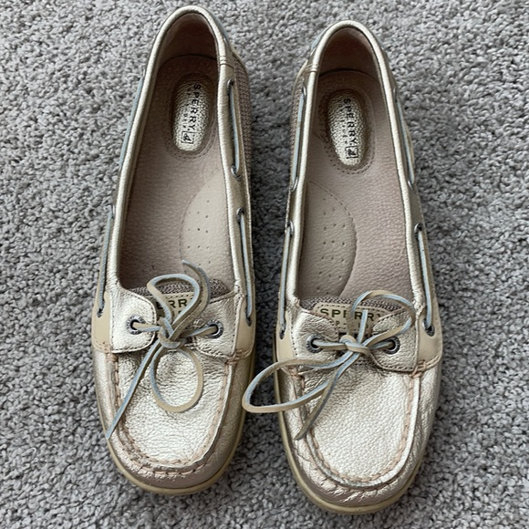 Sperry Gold Metallic Top-Sider Boat Shoes